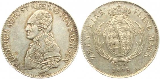 Sachsen - 1818 IGS - Friedrich August III. (1763 - 1827) - Taler - ss-vz min. justiert