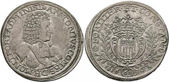 Montfort - 1690 - Anton Admin (1686 - 1693) - Gulden zu 60 Kreuzer - f.vz
