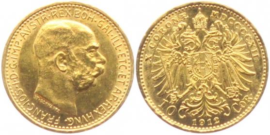 Österreich - 1912 - Franz Joseph I. - 10 Kronen ss-vz