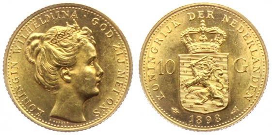 Niederlande - 1898 - Königin Wilhelmina (1890 - 1948) - 10 Gulden - f.st