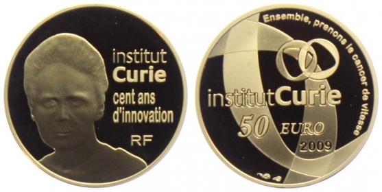 Frankreich - 2009 - Institut Marie Curie - 50 Euro PP - in Box mit Echtheitszertifikat