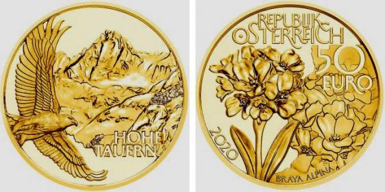 Österreich - 2020 - Hohe Tauern - Adler - 50 Euro - PP