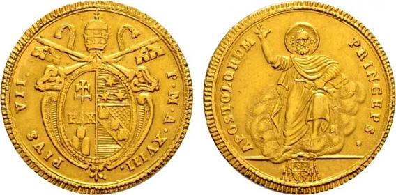 Vatikan - 1817 B - Papst Pius VII. (1799 - 1823) - Doppia - vz