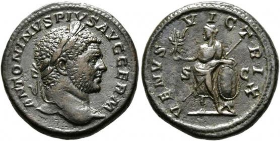 Römische Kaiserzeit - Caracalla (198 - 217) - As - vz -  in Slab Ch XF