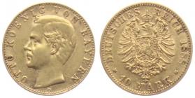 Bayern - J 198 - 1888 D - Otto (1886 - 1913) - 10 Mark  f.vz