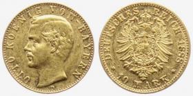 Bayern - J 198 - 1888 D - Otto (1886 - 1913) - 10 Mark vz