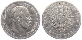Preussen - J 96 - 1876 B - Wilhelm I. (1861 - 1888) - 2 Mark - s-ss