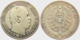 Preussen - J 96 - 1879 A - Wilhelm I. (1861 - 1888) - 2 Mark - s-ss