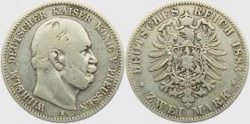 Preussen - J 96 - 1883 A - Wilhelm I. (1861 - 1888) - 2 Mark - f.ss