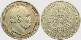 Preussen - J 96 - 1883 A - Wilhelm I. (1861 - 1888) - 2 Mark - s-ss