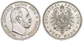 Preussen - J 97 - 1874 A - Wilhelm I. (1861 - 1888) - 5 Mark - vz+