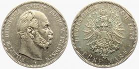 Preussen - J 97 - 1874 A - Wilhelm I. (1861 - 1888) - 5 Mark - vz-st