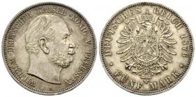 Preussen - J 97 - 1876 A - Wilhelm I. (1861 - 1888) - 5 Mark - vz-st