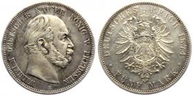 Preussen - J 97 - 1874 A - Wilhelm I. (1861 - 1888) - 5 Mark - vz