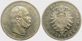 Preussen - J 97 - 1876 B - Wilhelm I. (1861 - 1888) - 5 Mark - vz