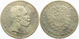 Preussen - J 97 - 1876 B - Wilhelm I. (1861 - 1888) - 5 Mark - ss