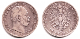 Preussen - J 97 - 1876 B - Wilhelm I. (1861 - 1888) - 5 Mark - s-ss