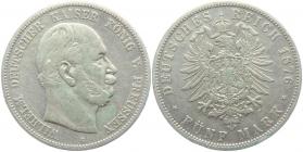Preussen - J 97 - 1876 C - Wilhelm I. (1861 - 1888) - 5 Mark - s-ss