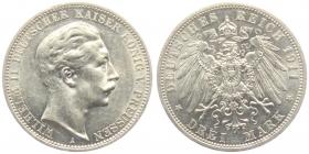 Preussen - J 103 - 1911 A - Wilhelm II. (1888 - 1918) - 3 Mark - f.st