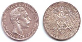 Preussen - J 103 - 1912 A - Wilhelm II. (1888 - 1918) - 3 Mark - vz