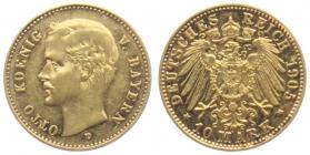 Bayern - J 201 - 1905 D - Otto (1886 - 1913) - 10 Mark vz