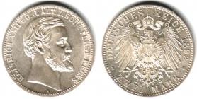 Reuß, ältere Linie - J 117 - 1892 A - Heinrich XXII. (1867 - 1902) - Regierungsjubiläum - 2 Mark - vz-st - MS 62 - in NGC-Slab