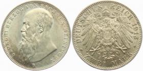Sachsen-Meiningen - J 151b - 1913 D - Georg II. (1866 - 1914) - 2 Mark - vz-st - MS 62 - in NGC Slab