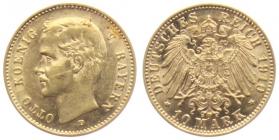 Bayern - J 201 - 1910 D - Otto (1886 - 1913) - 10 Mark vz-st min. Kr.