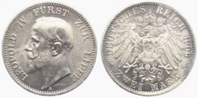 Lippe - J 78 - 1906 A - Leopold IV. (1805 - 1918) - 2 Mark - in NGC-Slab - vz-st - MS 62