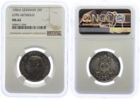 Lippe - J 78 - 1906 A - Leopold IV. (1805 - 1918) - 2 Mark - in NGC-Slab - vz-st - MS 62