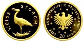 Deutschland - 2020 A - Heimische Vögel - Weißstorch - 20 Euro - 1/8 Unze - st