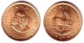 Südafrika - 1966 - Springbock - Jan von Riebeek - 2 Rand - f.st
