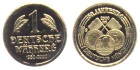 Deutschland - 2000 - Währungsunion - 1 Deutsche Währung - PP
