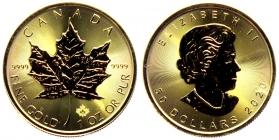 Kanada - 2020 - Maple Leaf - 1 Unze - 50 Dollar - st