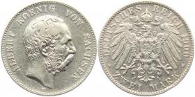 Sachsen - J 124 - 1900 E - Albert (1873 - 1902) - 2 Mark - f.vz