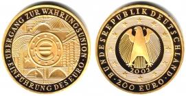 Deutschland - 2002 A - Währungsunion - 200 Euro - 1 Unze - st