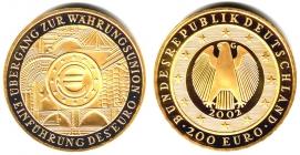 Deutschland - 2002 G - Währungsunion - 200 Euro - 1 Unze - st