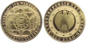 Deutschland - 2002 D - Währungsunion - 200 Euro - 1 Unze - st