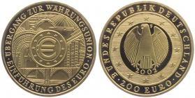 Deutschland - 2002 F - Währungsunion - 200 Euro - 1 Unze - st