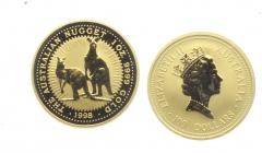 Australien - 1998 - Känguruh - 100 Dollars - 100 Dollars -  1 Unze - st