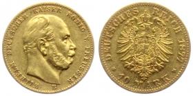 Preussen - J 245 - 1877 B - Wilhelm I. (1861 - 1888) - 10 Mark ss+