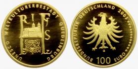 Deutschland - 2003 G - UNESCO-Weltkulturerbe - Quedlinburg - 100 Euro - 1/2 Unze - st