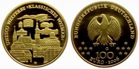 Deutschland - 2003 G - UNESCO-Weltkulturerbe - Weimar - 100 Euro - 1/2 Unze - st