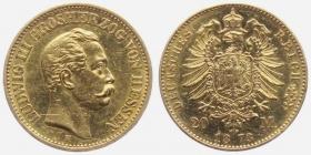 Hessen - J 214 - 1873 H - Ludwig III. (1848 - 1877) - 20 Mark vz+