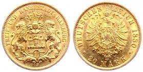 Bayern - J 193 - 1872 D - König Ludwig II. von Bayern (1864 - 1886) - 10 Mark - ss+