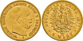 Preussen - J 244 - 1877 B - Kaiser Wilhelm I. (1861 - 1888) - 5 Mark - ss+