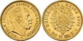 Preussen - J 246 - 1875 A - Kaiser Wilhelm I. (1861 - 1888) - 20 Mark - f.st min. RF