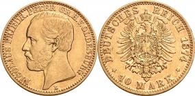 Oldenburg - J 241 - 1874 B -  Nicolaus Friedrich Peter (1853 - 1900) - 10 Mark - f.vz