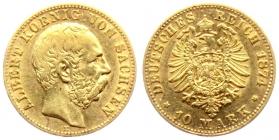 Sachsen - J 261 - 1874 E - Albert (1873 - 1902) - 10 Mark - ss