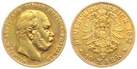 Preussen - J 245 - 1875 C - Wilhelm I. (1861 - 1888) - 10 Mark ss+